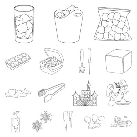 Vector design of clean and wet logo. Collection of clean and purity vector icon for stock.