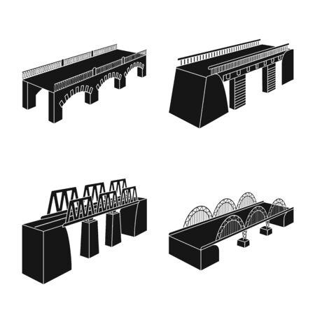 Vector design of construct and side sign. Collection of construct and architecture vector icon for stock.