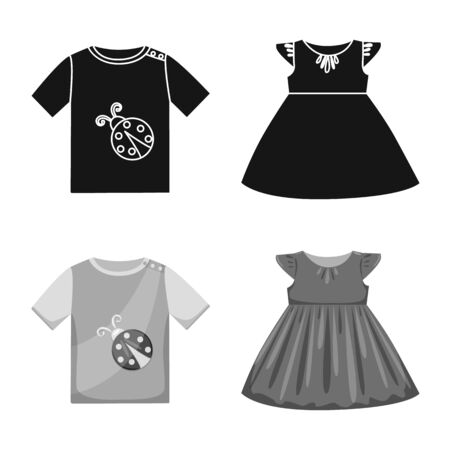 Isolated object of fashion and garment  . Collection of fashion and cotton vector icon for stock.