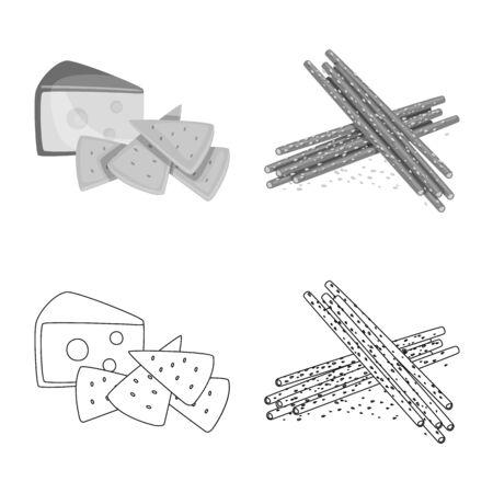 Vector design of taste and seasoning. Set of taste and organic stock vector illustration.