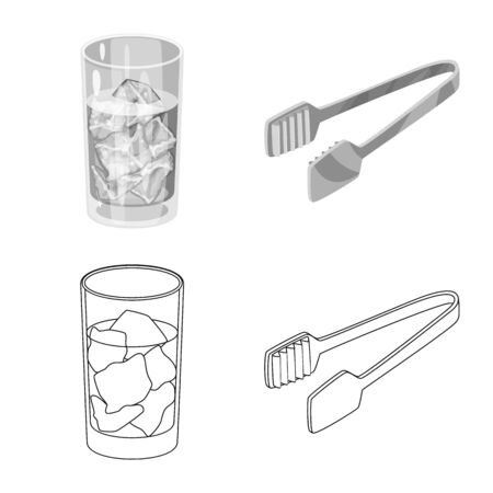 Vector design of texture and frozen  . Set of texture and transparent vector icon for stock. 向量圖像