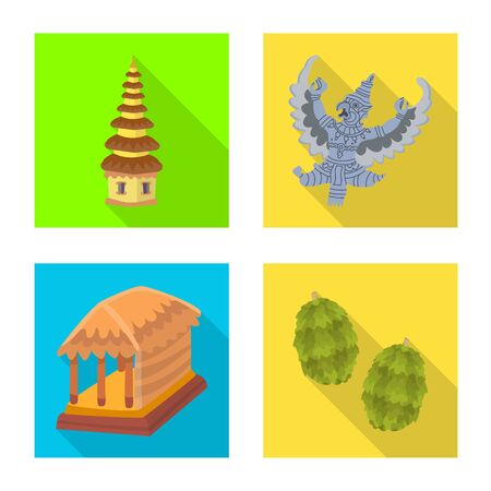Vector design of travel and tourism  . Set of travel and island stock vector illustration. 向量圖像