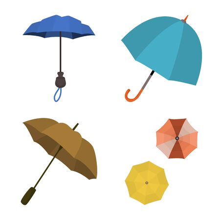 Isolated object of umbrella and rain symbol. Set of umbrella and weather vector icon for stock.