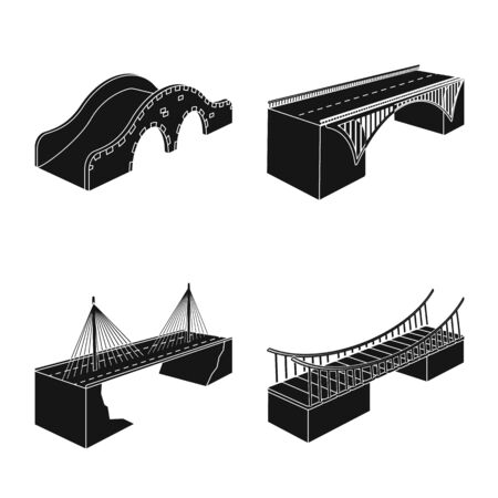 Isolated object of construct and side  . Set of construct and architecture stock symbol for web.