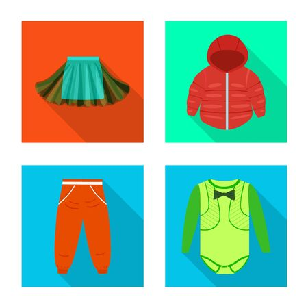 Vector illustration of fashion and garment symbol. Collection of fashion and cotton vector icon for stock.
