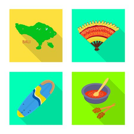 Vector illustration of travel and tourism  . Collection of travel and island stock vector illustration. 向量圖像