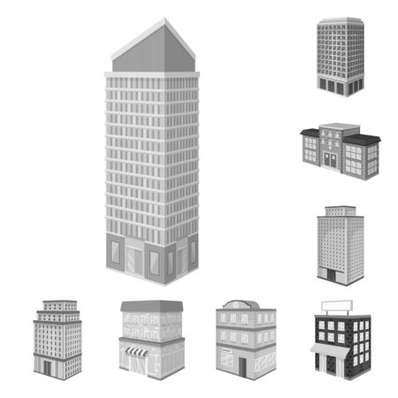 Isolated object of realty and modern  . Collection of realty and building vector icon for stock. 向量圖像