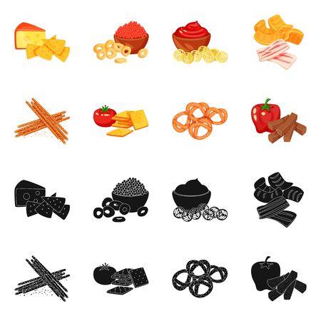 Vector design of taste and seasonin symbol. Collection of taste and organic stock vector illustration.