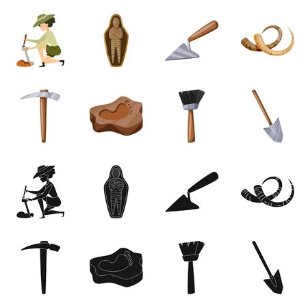 Vector illustration of story and items  . Collection of story and attributes vector icon for stock.