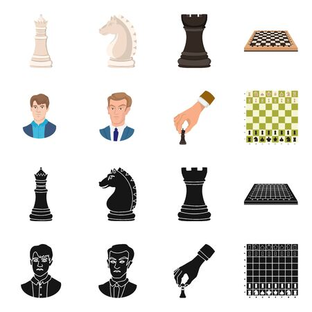 Vector illustration of checkmate and thin symbol. Collection of checkmate and target vector icon for stock. 向量圖像