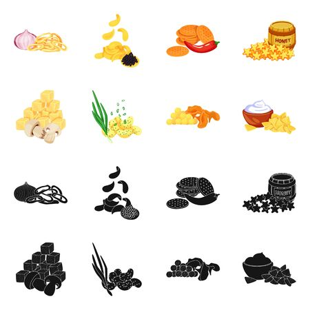 Isolated object of taste and seasonin icon. Set of taste and organic stock symbol for web.