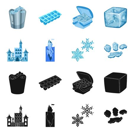 Vector illustration of texture and frozen symbol. Collection of texture and transparent stock vector illustration.