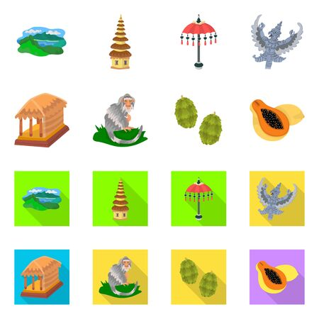 Isolated object of and travel icon. Collection of and traditional vector icon for stock.