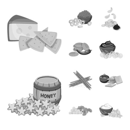 Vector illustration of taste and cooking  . Collection of taste and seasonin stock symbol for web.