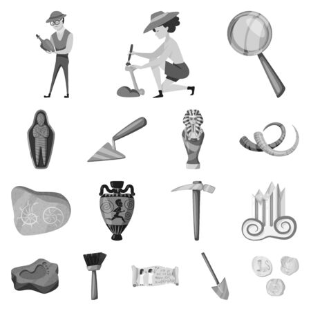 Vector illustration of story and discovery sign. Set of story and items stock symbol for web.