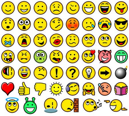 smileys: Classic retro style 54 smileys