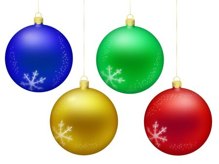 Christmas decoration balls isolated on white background photo