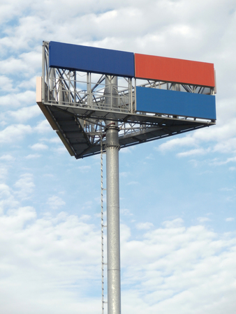 Billboard stand with blank areas photo