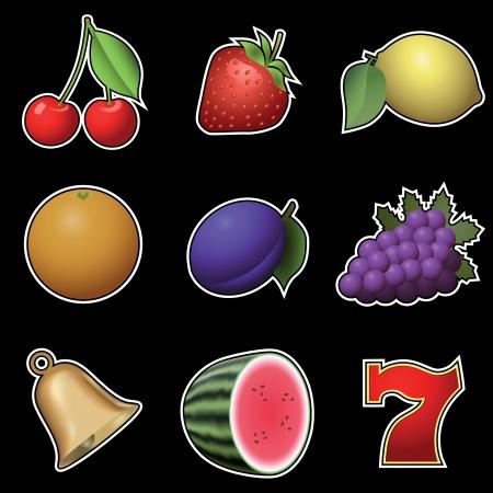 slots: Slot machine fruit symbols
