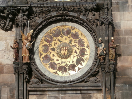 horologe: Prague, Czech Republic - Prague astronomical clock - calendar  Old Town clock in Prague