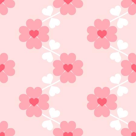 Heart flower soft seamless wallpaper