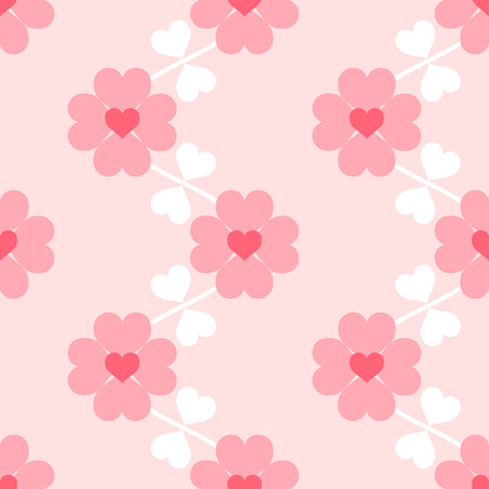 Heart flower soft seamless wallpaper