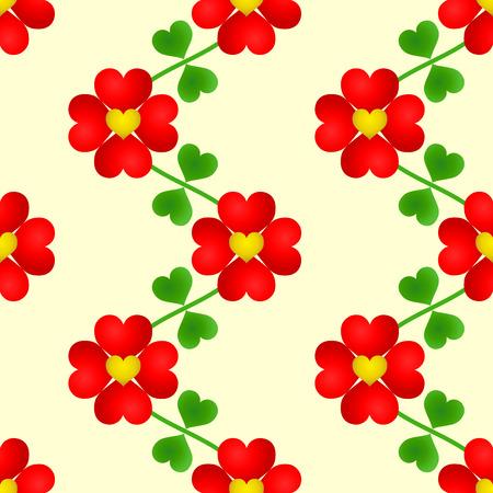 Heart flower seamless wallpaper Vectores