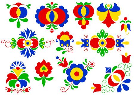 Moravian folk ornaments  South Moravia, Czech Republic