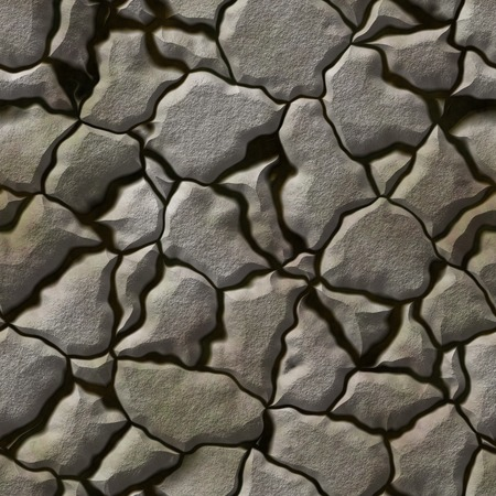 mire: Seamless stone generated hires texture Stock Photo