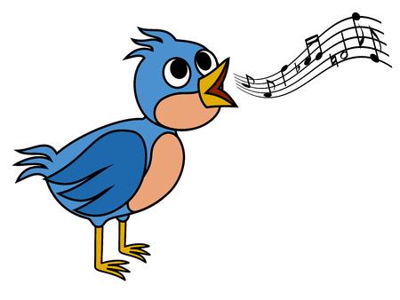 warble: Singing bird Illustration