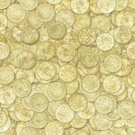 gulden: Golden coins seamless texture or background