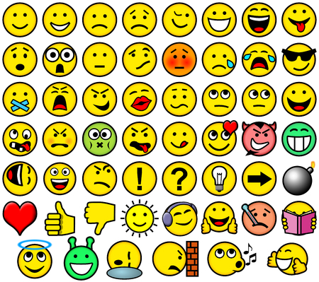 disgust: Classic retro style 54 smileys