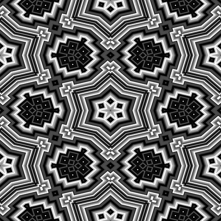 Cubes kaleidoscopic pattern seamless generated hires texture Stock Photo