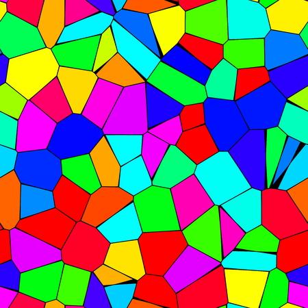 Rainbow mosaic seamless texture photo