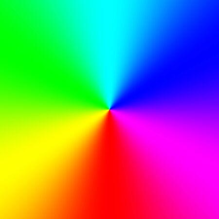 Rainbow spectral circle gradient Stock Photo