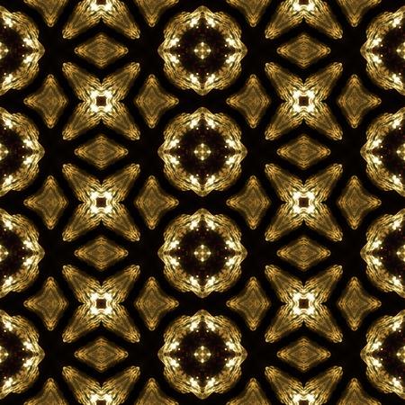 Kaleidoscopic sunset seamless generated texture Stock Photo