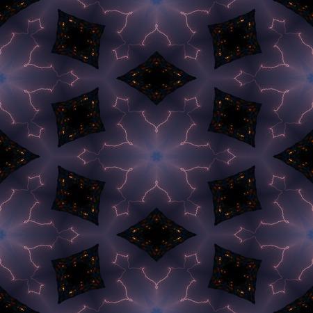 Kaleidoscopic storm seamless generated texture Stock Photo