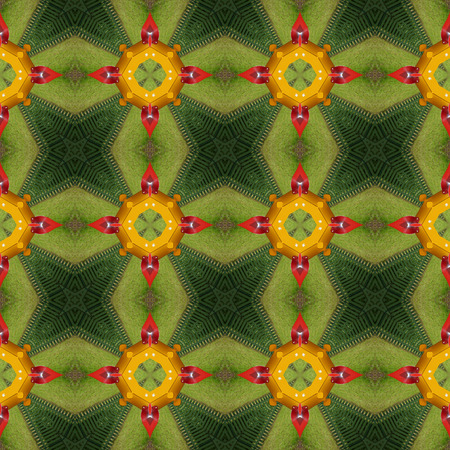 Kaleidoscopic abstract seamless generated texture Stock Photo