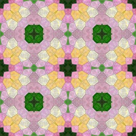 generative: Glass mosaic kaleidoscopic seamless generated hires texture or background