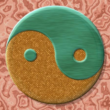 生成されたテクスチャのシームレスな背景の yin ヤン記号