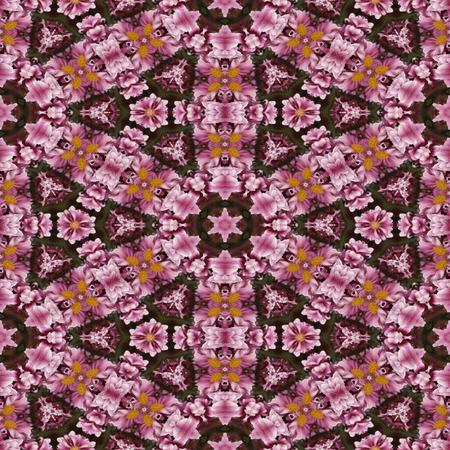 kaleidoscopic: Kaleidoscopic floral seamless generated texture Stock Photo