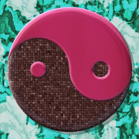 fateful: Yin-yang symbol with seamless generated texture