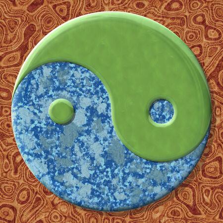 シームレスな生成された大理石のテクスチャ背景の yin ヤン記号