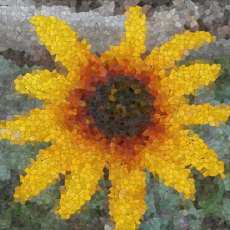 generative: Flower glass mosaic generated texture or background