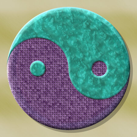 fateful: Yin-yang symbol with seamless generated texture background
