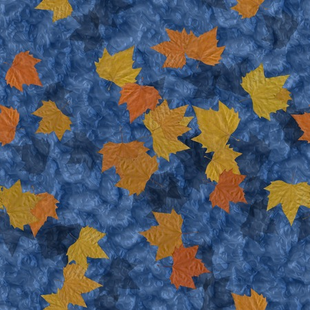 Autumn leaves on water seamless generated texture background photo