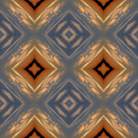 Kaleidoscopic sunset seamless generated texture or background