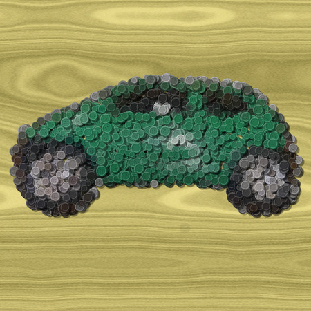 stud: Car sewing buttons image wood generated background Stock Photo