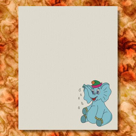 Elephant writing paper marble texture background Фото со стока