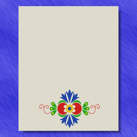 Moravian folk ornament writing paper metal texture background Фото со стока